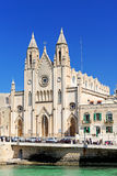 Our Lady of Mount Carmel Church on Balluta Bay Royalty Free Stock Photography