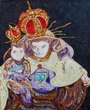 Our Lady of Mount Carmel. A painting of Our Lady of Mount Carmel by Nilton Macedo Stock Photos