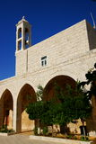 Our Lady of Nourieh Church, Lebanon. Our Lady of Nourieh Greek Orthodox Monastery and Church, aka Saydet al Nourieh, built in the 17th century on the top of the stock photo