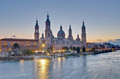 Our Lady Of The Pillar Basilica At Zaragoza, Spain Royalty Free Stock Images