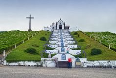 Our Lady of Peace Chapel, Sao Miguel island, Azores, Portugal stock photo