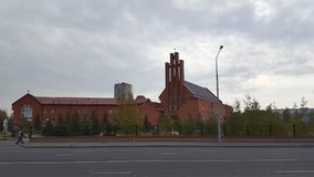 Our Lady Of Perpetual Help Cathedral, Astana, Kazakhstan stock photos