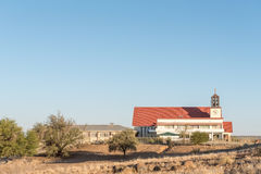 Our Lady of Perpetual Help Roman Catholic Church in Keetmanshoop. KEETMANSHOOP, NAMIBIA - JUNE 13, 2017: The Our Lady of Perpetual Help Roman Catholic Church in Royalty Free Stock Image