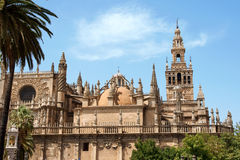 Our Lady of the Pillar Basilica in Zaragoza Royalty Free Stock Images
