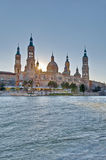 Our Lady of the Pillar Basilica at Zaragoza, Spain Stock Photo