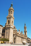 Our Lady of the Pillar Cathedral in Zaragoza Stock Photography