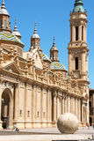 Our Lady of the Pillar Cathedral in Zaragoza, Spain Stock Photo