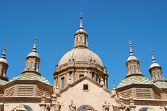 Our Lady of the Pillar in Zaragoza Stock Photos
