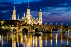 Our Lady of the Pillar, Zaragoza, Aragon Stock Images