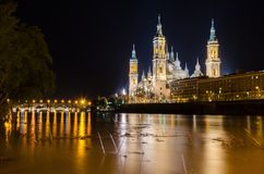 Our Lady of the Pillar in Zaragoza, Aragon Royalty Free Stock Images