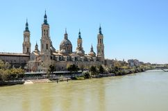 Our Lady of the Pillar in Zaragoza, Aragon Stock Photos