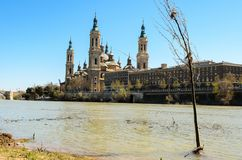 Our Lady of the Pillar in Zaragoza, Aragon Royalty Free Stock Image