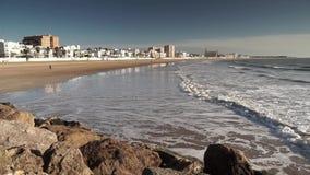Our Lady of Regla Beach Chipiona Cadiz Spain stock footage