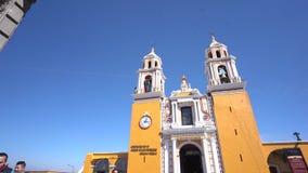 Our Lady of Remedies Church Iglesia de Nuestra Senora de los Remedios stock footage