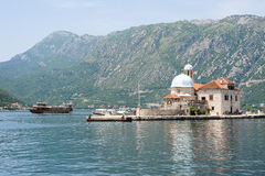 Our lady of the rock island on Kotor bay Stock Photo