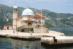 Our lady of the rock island on Kotor bay Royalty Free Stock Images