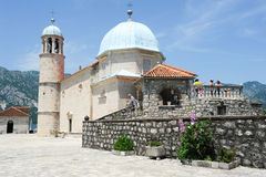 Our lady of the rock island on Kotor bay Stock Photography