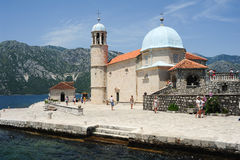 Our lady of the rock island on Kotor bay Royalty Free Stock Photos