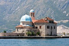 Our lady of the Rock, Perast, Kotor Bay Stock Images