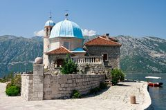 Our lady of the Rock, Perast, Kotor Bay Stock Photos