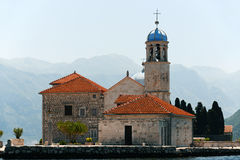 Our Lady of the Rocks in Bay of Kotor, Montenegro Stock Image