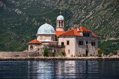 Our Lady of the Rocks in Bay of Kotor, Montenegro Royalty Free Stock Image