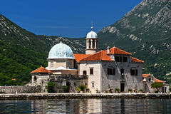 Our Lady of the Rocks in Bay of Kotor, Montenegro Royalty Free Stock Photos