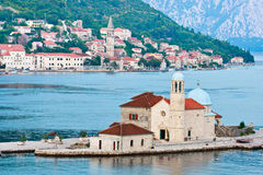 Our Lady of the Rocks and Perast Royalty Free Stock Image