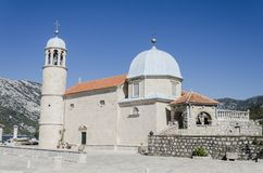 Our Lady of the Rocks in Perast, Montenegro Stock Photography