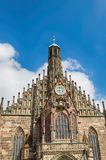 Our Lady`s Church of Nuremberg, Bavaria state, Germany. Cathedral Frauenkirche. Our Lady`s Church of Nuremberg, Bavaria state, Germany Royalty Free Stock Image