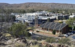 Our Lady of the Sacred Heart Church, Alice Springs, View From Anzac Hill. Royalty Free Stock Photos