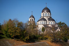 Our Lady of the Sign Church. The orthodox church in Vilnius, Lithuania royalty free stock photography