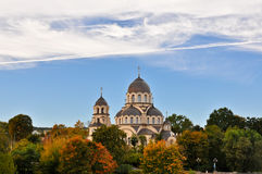 Our Lady of the Sign Church. The orthodox church in Vilnius, Lithuania royalty free stock images