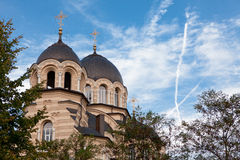 Our Lady of the Sign Church. The orthodox church in Vilnius, Lithuania stock photography