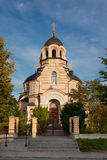 Our Lady of the Sign Church. The orthodox church in Vilnius, Lithuania royalty free stock image
