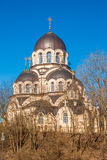 Our Lady of the Sign eastern orthodox church in Zverynas distric Stock Photography