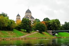 Our Lady of the Sign orthodox church in Vilnius Stock Photo