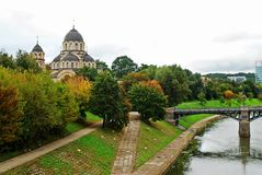 Our Lady of the Sign orthodox church in Vilnius Royalty Free Stock Image