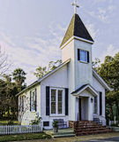 Our Lady Star of the Sea, St. Mary's, Georgia. Historic Chapel. Royalty Free Stock Image