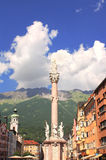 Our Lady statue in Innsbruck, Austria Royalty Free Stock Photography