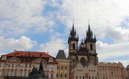 Our Lady of Tyn church in Prague Stock Image
