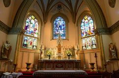 Our Lady of Victories Church, Boston, USA. Our Lady of Victories Catholic Church on 27 Isabella Street, Boston, Massachusetts, USA. This Church is permanently Stock Image