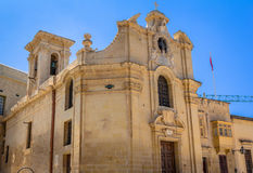 Our Lady of Victories. The Church of Our Lady of Victory is considered to be the first building completed in Valletta Stock Images