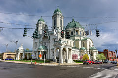 Our Lady of Victory Basilica - Lackawanna, NY. The Our Lady of Victory Basilica. It is a Catholic parish church and national shrine in Lackawanna, New York stock photos