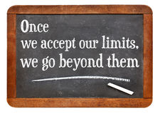 Our limits quote Royalty Free Stock Image