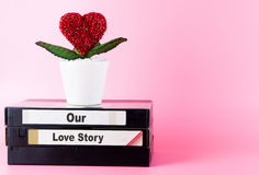 Our Love story memory on Video tape Stock Images