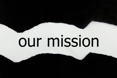 Our Mission message written Royalty Free Stock Images