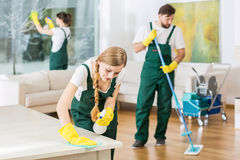 Our mission is to clean! Royalty Free Stock Images