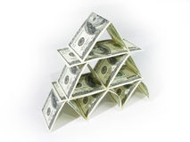 Our money for your growing. On white Royalty Free Stock Image