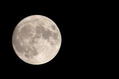 Our Moon with Negative Space. Full Moon Stock Images